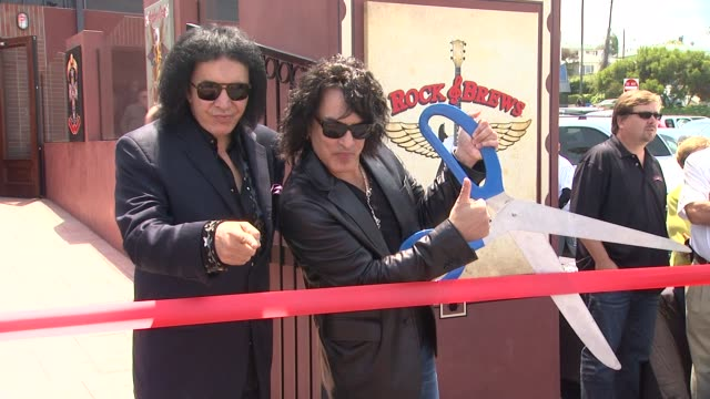 clean grand opening of kiss' restaurant 'rock brews pacific coast highway' event capsule clean grand opening of kiss' at rock brews on may 08 2013 in... - torrance stock videos & royalty-free footage