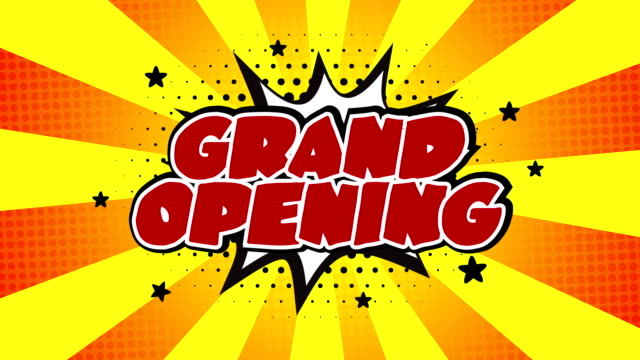grand opening word animation - film moving image stock videos & royalty-free footage