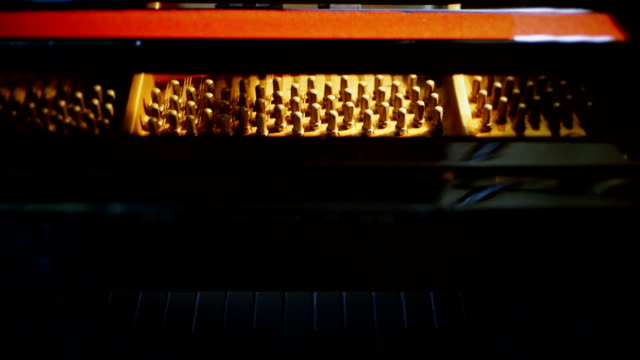 grand piano inside with strings. - classical stock videos & royalty-free footage