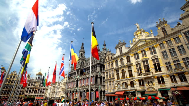 grand place in brussels - brussels capital region stock videos & royalty-free footage