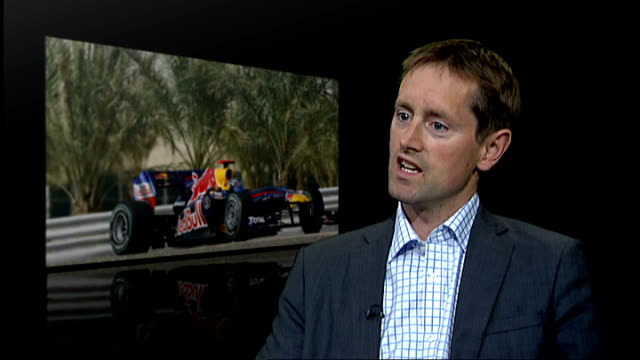 grand prix: formula one teams refuse to participate; england: london: int alex wilks interview sot - not right time to go to bahrain - grand prix motor racing stock videos & royalty-free footage