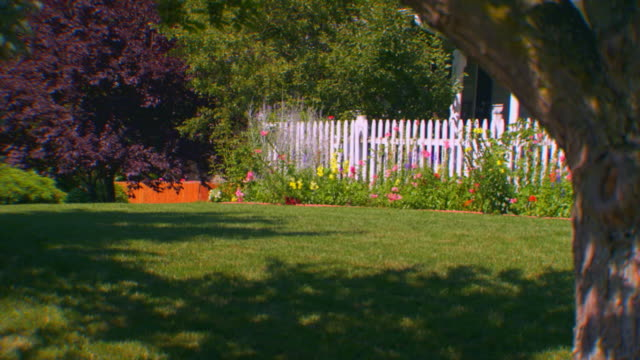 grand rapids, michiganbackyard - picket fence stock videos and b-roll footage