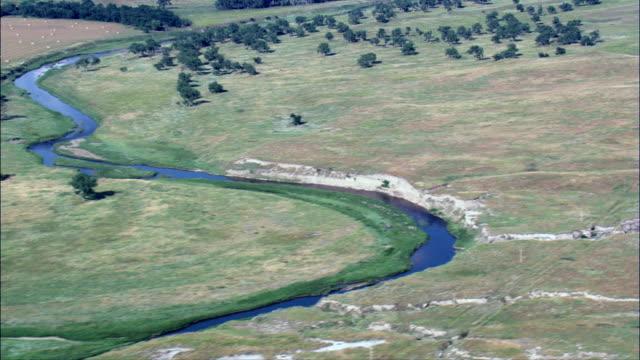 grand river national grassland  - aerial view - south dakota,  perkins county,  united states - national grassland stock videos & royalty-free footage