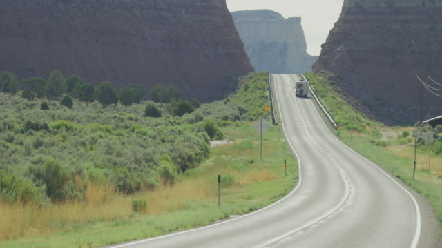 grand staircase escalante national monument canyons, highway 12 - camper van stock videos and b-roll footage