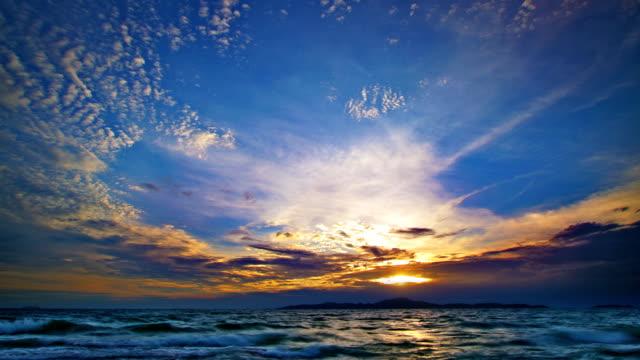 グランドの夕日