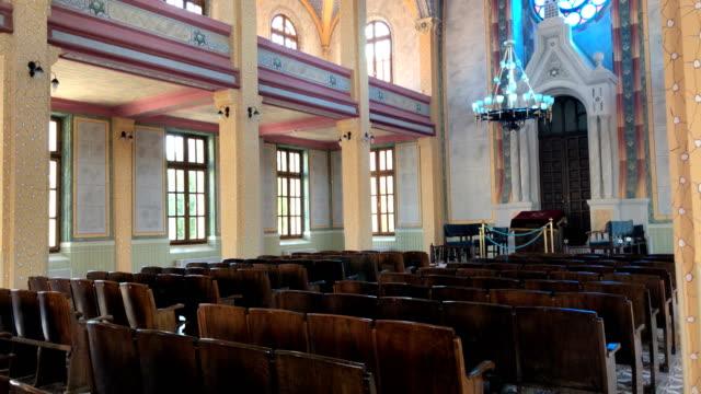 stockvideo's en b-roll-footage met grote synagoge van edirne - jodendom