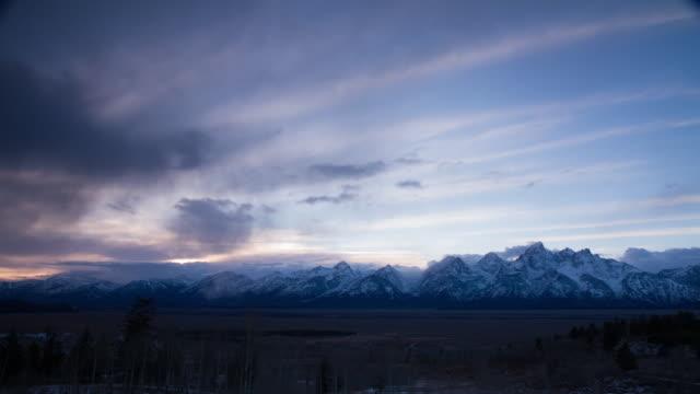 grand teton national park timelapse 1 - grand teton stock videos & royalty-free footage