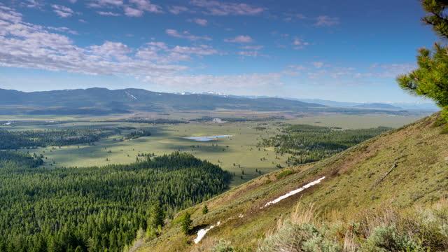grand teton nationalpark valley, wyoming - grand teton stock-videos und b-roll-filmmaterial