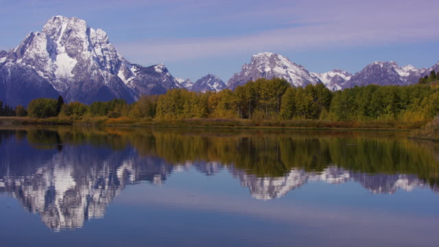 grand teton national park - mt moran stock videos & royalty-free footage