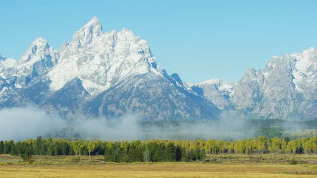grand teton national park - parco nazionale del grand teton video stock e b–roll