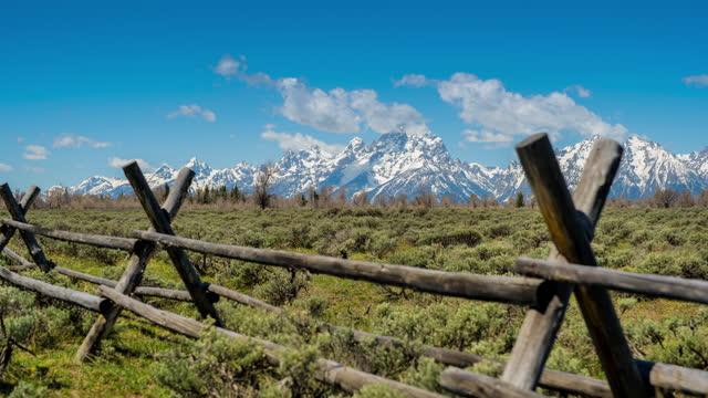 グランドティトン国立公園(ワイオミング州) - グランドティトン国立公園点の映像素材/bロール