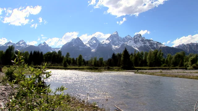 grand teton, snake river, wyoming - snake river stock videos and b-roll footage