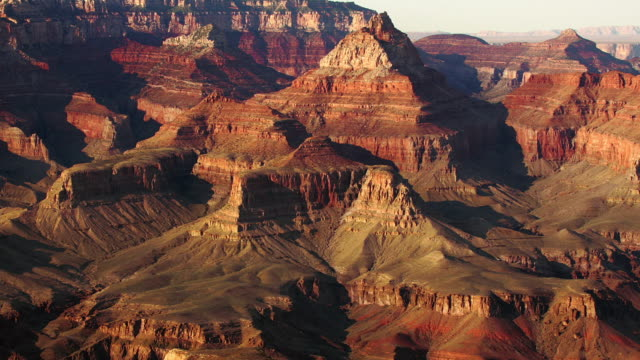 grand view vishnu temple transition zoom - grand canyon national park stock videos & royalty-free footage