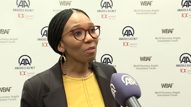 granddaughter of nelson mandela and high commissioner at the grand assembly of the world business angels investment forum swati dlamini mandela... - symbiotic relationship stock videos & royalty-free footage