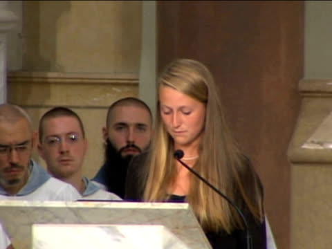 granddaughter of senator ted kennedy reads eulogy at funeral service 29 august 2009 - eulogy stock videos & royalty-free footage