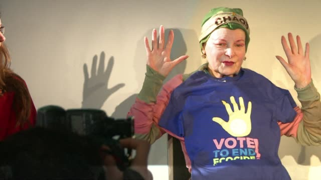 grande dame of fashion co founder of punk outspoken campaigner vivienne westwood has seen it all - grande stock videos and b-roll footage