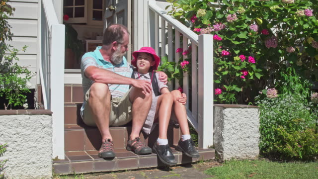 grandfather advise for the new school year start - back to school stock videos & royalty-free footage