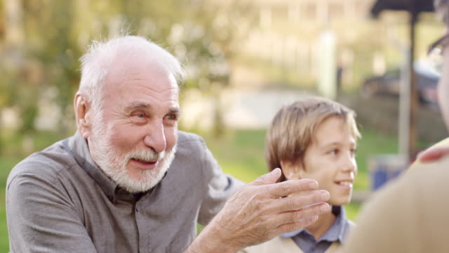 grandfather and grandson - laughing stock videos & royalty-free footage