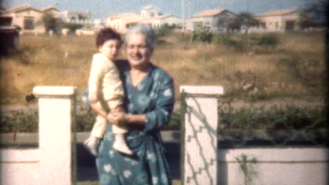 grandma & child caracas 1958 - documentary footage stock videos & royalty-free footage