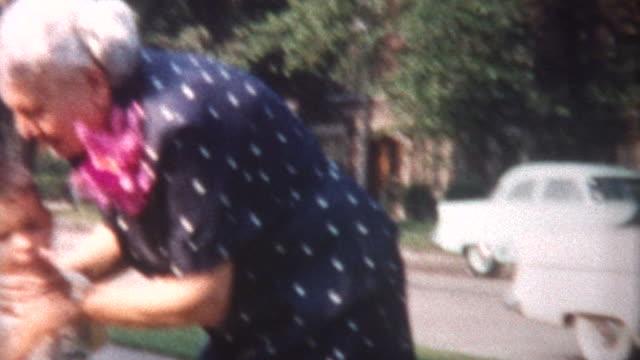 grandma kisses grandsons 1958 - 1958 stock videos and b-roll footage