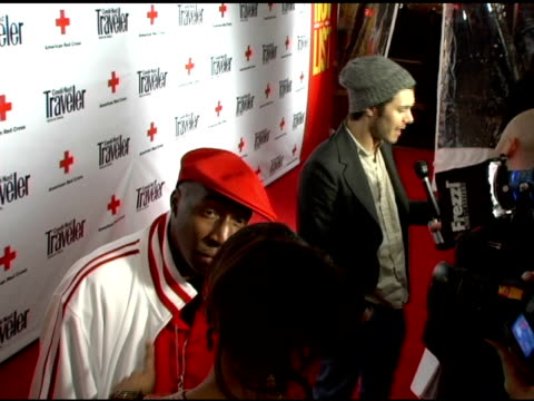grandmaster flash and adam brody at the 2007 conde nast traveler hot list party arrivals at the bowery hotel in new york new york on april 19 2007 - adam brody stock videos & royalty-free footage