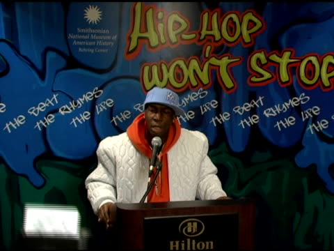 Grandmaster Flash talks about the turntable technique he is most known for at the Launch of 'HipHop Wont Stop The Beat the Rhymes The Life Collection...