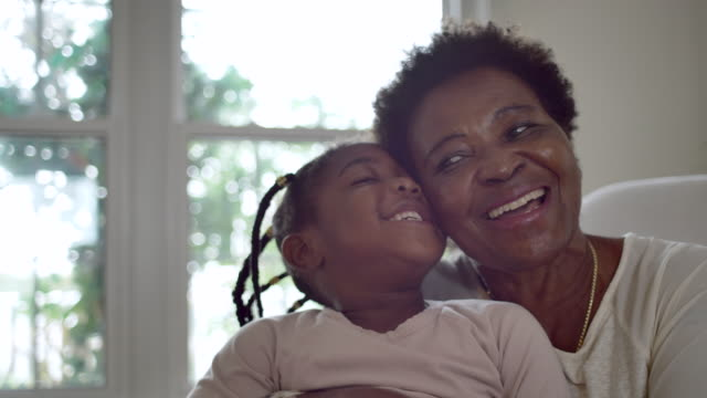 grandmother and granddaughter - fatcamera stock videos & royalty-free footage