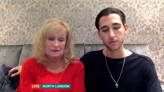 grandmother and grandson create video highlighting loneliness at christmas; england: london: gir: int zach margolin and josie singer live 2-way... - itv london tonight stock-videos und b-roll-filmmaterial
