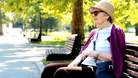 grandmother portrait - one senior woman only stock videos & royalty-free footage