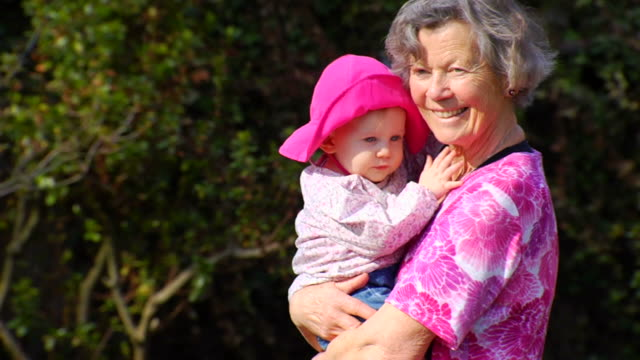 Grandmother Walks with Granddaughter
