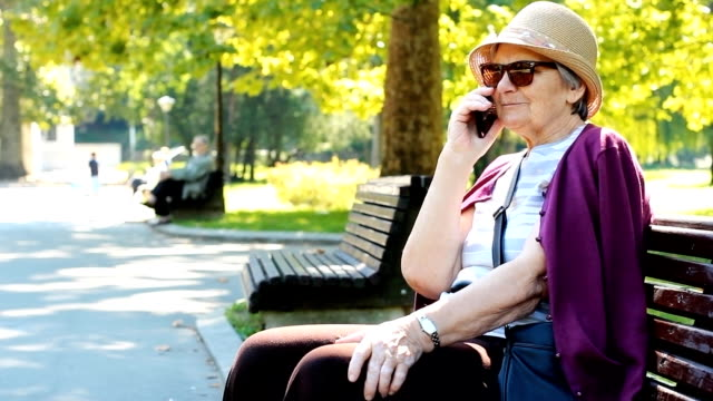 Grandmother with smart phone