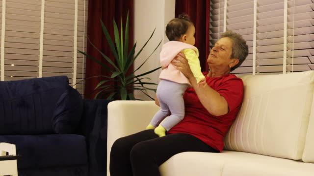 grandparent with grandchild - grandparent stock videos & royalty-free footage