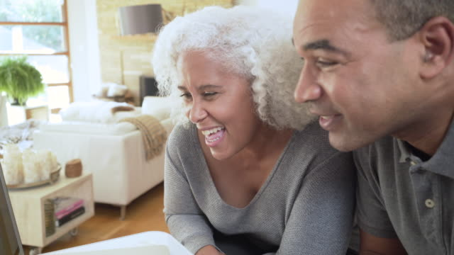 grandparents video chatting with granddaughter - grandparent stock videos & royalty-free footage