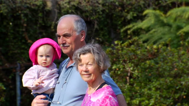 Grandparents Walk with Granddaughter