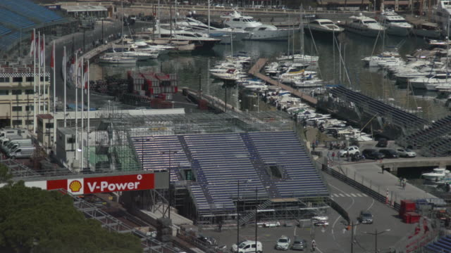 grandstands for monte-carlo grand prix - grand prix motor racing stock videos & royalty-free footage