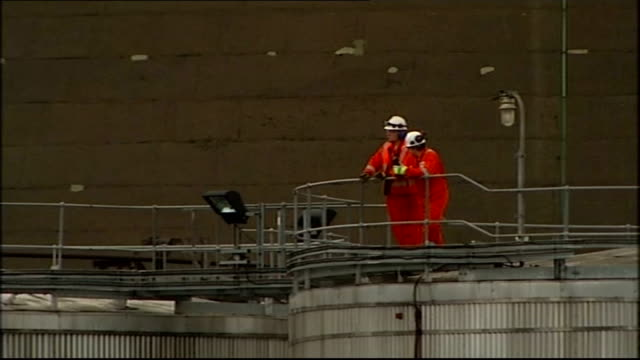 grangemouth oil refinery to close following union dispute; scotland: firth of forth: grangemouth: grangemouth refinery: ext grangemouth workers... - no smoking sign stock videos & royalty-free footage