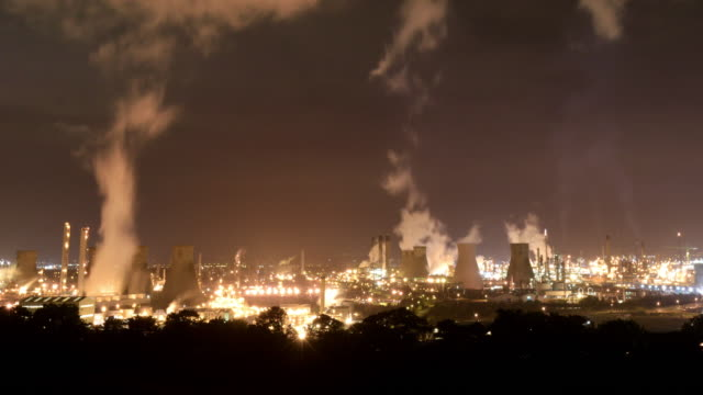 grangemouth oil refinery - fossil fuel stock videos & royalty-free footage