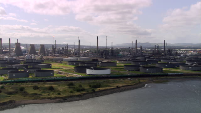 grangemouth oil refinery - dundee scotland stock videos and b-roll footage