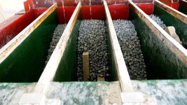 Granite marble aging machine in marble factory