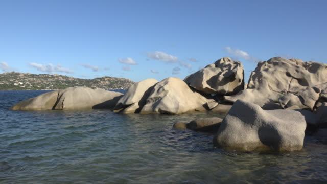 granite rocks in sea - sassari stock videos & royalty-free footage