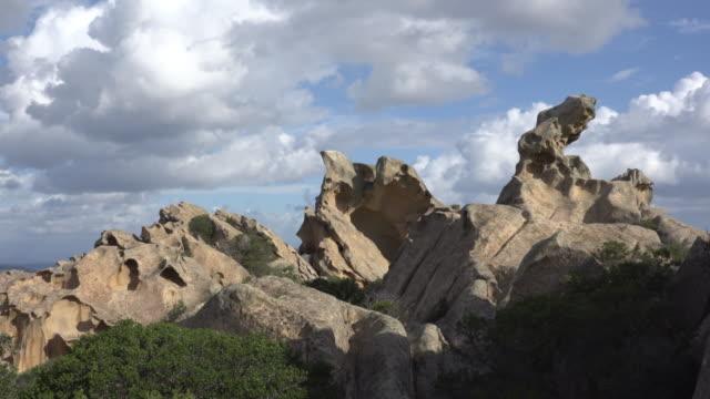 granite rocks on capo d'orso - sassari stock videos & royalty-free footage