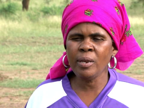 grannies and housewives in one of south africa's townships from working on their tackling and goalkeeping skills. they say the sport makes them feel... - international team soccer stock videos & royalty-free footage