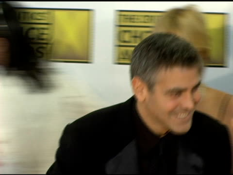 grant heslov and george clooney at the 2006 critics' choice awards arrivals at santa monica civic auditorium in santa monica california on january 9... - 2006 stock videos & royalty-free footage