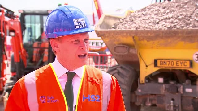 grant shapps interview; part 1 of 2 england: london: hs2 construction site: ext grant shapps mp interview sot - well look we've got a couple of... - luck stock videos & royalty-free footage
