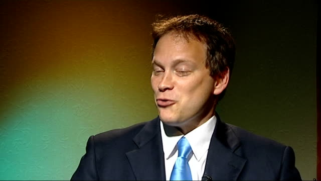 int grant shapps mp interview sot - grant shapps stock videos and b-roll footage