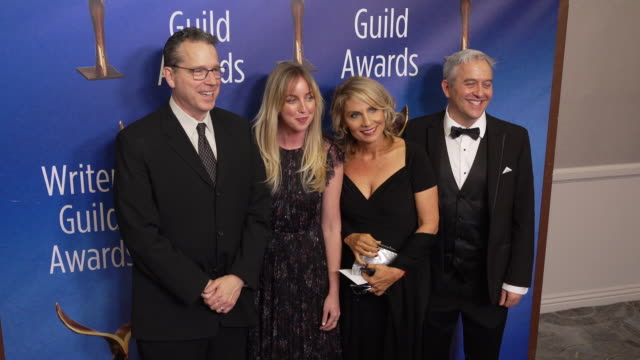 grant taylor and ann slichter at the 2020 writers guild awards at the beverly hilton hotel on february 01, 2020 in beverly hills, california. - the beverly hilton hotel stock videos & royalty-free footage