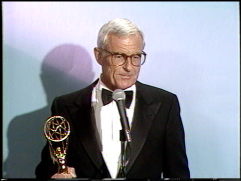 Grant Tinker at the 1987 Emmy Awards Inside at the Pasadena Civic Auditorium in Pasadena California on September 20 1987
