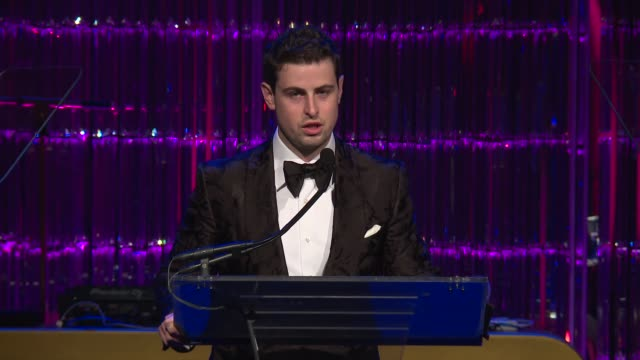 speech grant verstandig at angel ball 2017 at cipriani wall street on october 23 2017 in new york city - cipriani manhattan stock videos & royalty-free footage