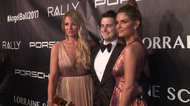 grant verstandig maria menounos and guest at angel ball 2017 at cipriani wall street on october 23 2017 in new york city - cipriani manhattan stock videos & royalty-free footage