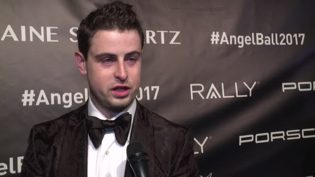interview grant verstandig talks about being honored tonight and his hopes for a cure to cancer soon at angel ball 2017 at cipriani wall street on... - cipriani manhattan stock videos & royalty-free footage